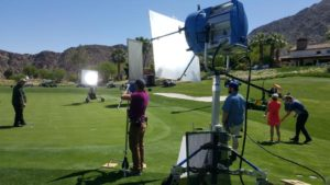 Out on location in Palm Springs.